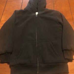 🎀5/$25🎀 black fleece lined zip up hoodie size 6